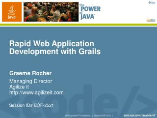 Rapid Web Application Development with Grails