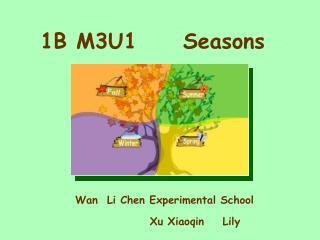 B M3U1     Seasons