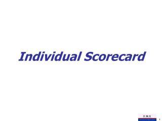 Individual Scorecard