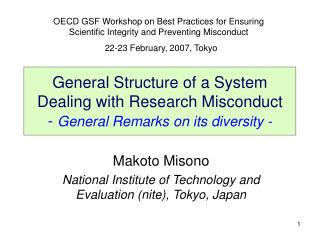 Makoto Misono National Institute of Technology and Evaluation (nite), Tokyo, Japan