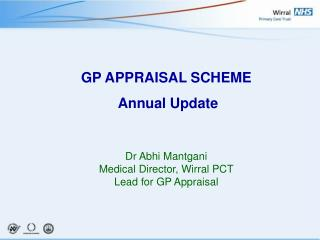 GP APPRAISAL SCHEME  Annual Update