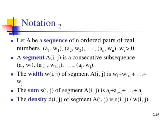 Notation  2