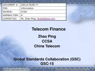 Telecom Finance