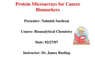 Protein Microarrays for Cancer Biomarkers