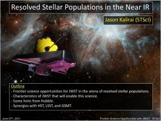 Resolved Stellar Populations in the Near IR