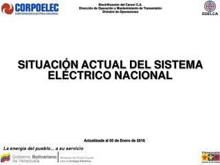 SITUACIÓN ACTUAL DEL SISTEMA ELÉCTRICO NACIONAL
