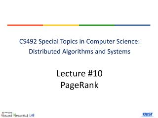 Lecture  #10 PageRank