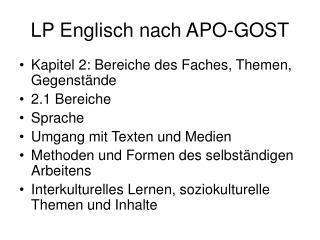 LP Englisch nach APO-GOST