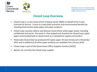 Closed Loop Overview