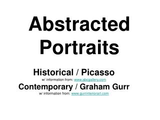 Abstracted Portraits