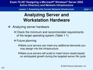 Analyzing server hardware
