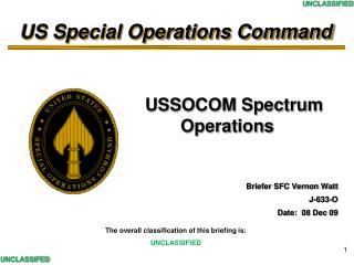 USSOCOM Spectrum                         Operations