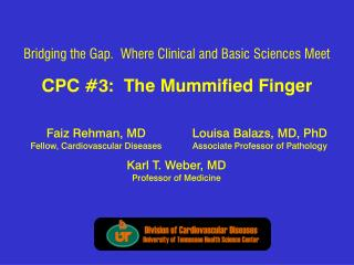 CPC #3:  The Mummified Finger