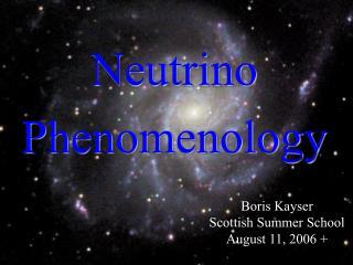 Neutrino Phenomenology