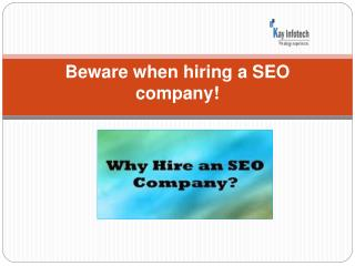 Hiring a SEO company in India