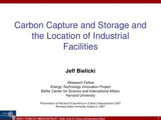 Carbon Capture and Storage and the Location of Industrial Facilities