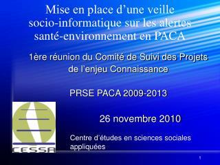 Mise en place d'une veille  socio-informatique sur les alertes  santé-environnement en PACA