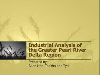 Industrial Analysis of the Greater Pearl River Delta Region