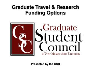 Graduate Travel & Research Funding Options