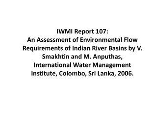 IWMI Report 107: