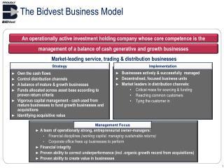 The Bidvest Business Model