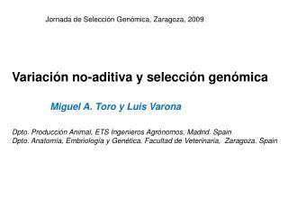 Variación no-aditiva y selección genómica