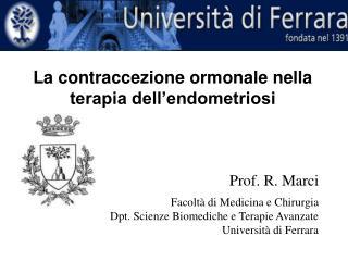 La contraccezione ormonale nella terapia dell'endometriosi