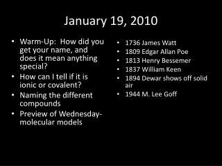 January 19, 2010