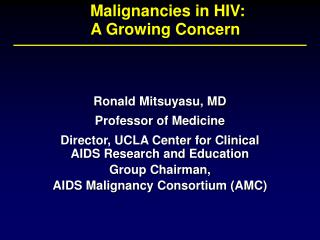 Malignancies in HIV: A Growing Concern