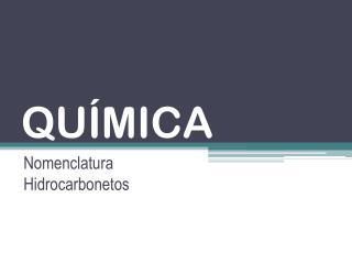 QU�MICA