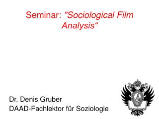 Seminar: Sociological Film Analysis