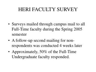 HERI FACULTY SURVEY