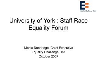 University of York : Staff Race Equality Forum