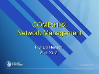 COMP3122  Network Management