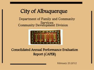 Consolidated Annual Performance Evaluation Report (CAPER)