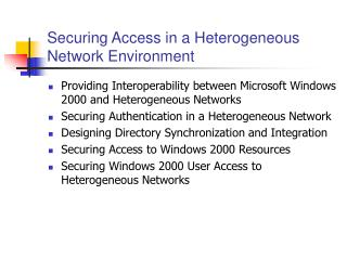 Securing Access in a Heterogeneous Network Environment
