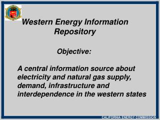 Western Energy Information  Repository