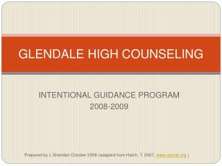 GLENDALE HIGH COUNSELING