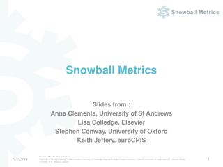 Snowball Metrics