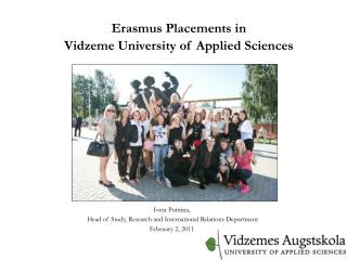 Erasmus Placements in Vidzeme University of Applied Sciences