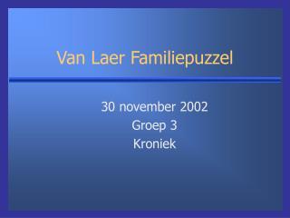 Van Laer Familiepuzzel