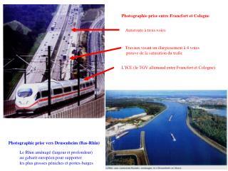 L'ICE (le TGV allemand entre Francfort et Cologne)