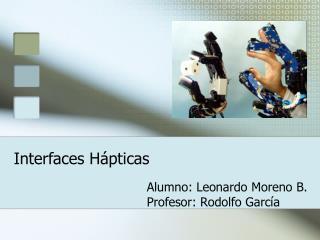 Interfaces H�pticas