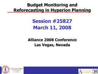 Budget Monitoring and Reforecasting in Hyperion Planning