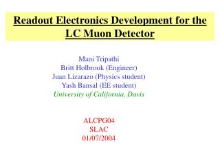 Readout Electronics Development for the LC Muon Detector