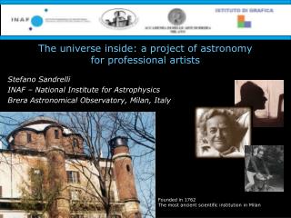 The universe inside: a project of astronomy  for professional artists