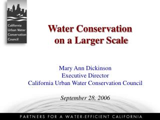 Water Conservation  on a Larger Scale