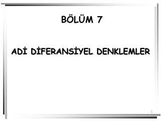 BÖLÜM 7
