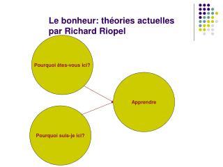 Le bonheur: th�ories actuelles par Richard Riopel