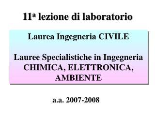 11 a  lezione di laboratorio